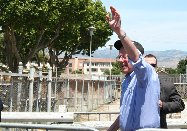 Bernie Sanders at the rally on Wednesday May 18, 2016 which took place at Santa Clara County Fairgrounds. Photo Credit: Eduardo Hilario