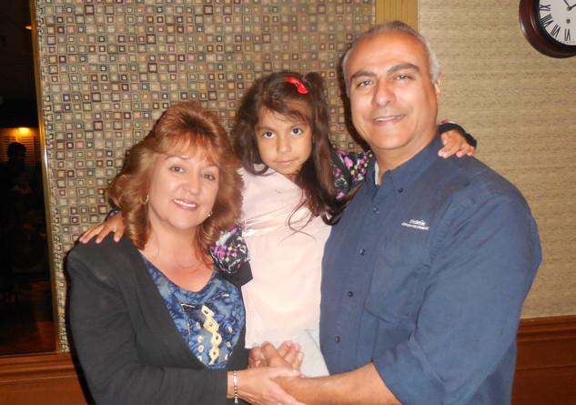 Ursula & Valentino DeLeón (President, Kiwanis Club Pueblo de San Jose) with their granddaughter. Photo Courtesy: Hilbert Morales