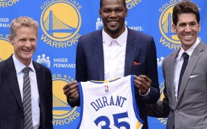 The most sought after free agent Kevin Durant officially announced his move to the Golden State Warriors on Thursday July 7th, 2016. Photo Courtesy: Warriors