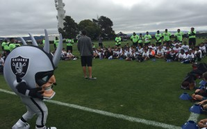 The NFL Play 60 Character Camp held at the Raiders Training Facility encourages activity and fitness for youth. Photo Courtesy: NFL