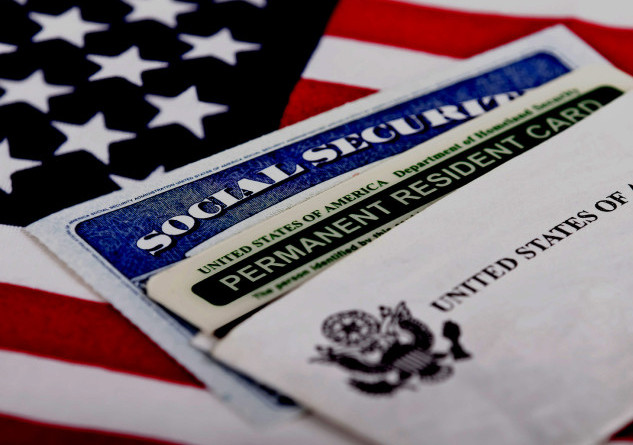 Social security and permanent resident card