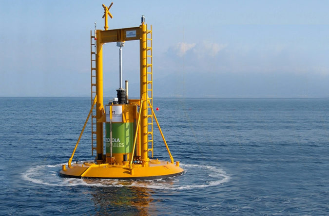 U.S.-based Lockheed Martin is branching out from defense contracting in assisting with the design of Ocean Power Technologies' (OPT) PowerBuoy technology to harness electricity from off-shore wave farms, as deployed here off the coast of Victoria, Australia. - Photo Courtesy: Roddy Scheer & Doug Moss EarthTalk