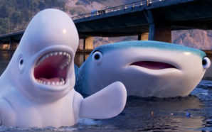 """Bailey (voiced by Ty Burrell) and Destiny (voiced by Kaitlin Olson) in """"Finding Dory"""". Photo Credit: Disney Studios"""