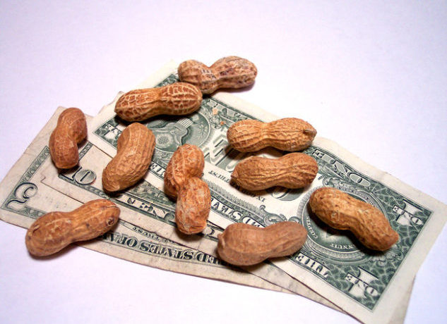 "Still working for peanuts? The Fight for $15 movement rallied on Tuesday, November 29th, 2016 for a ""National Day of Disruption"" in 340 cities, including L.A. and San Francisco. (cohdra/Morguefile)"