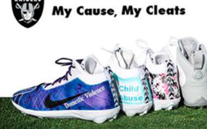 RAIDERS ORGANIZATION EMBRACES MY CAUSE, MY CLEATS CAMPAIGN