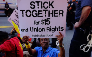 "The ""Fight for $15"" movement that began with fast-food and other low-wage workers helped spark California's latest round of minimum-wage hikes. Photo Credit: NY Communities"