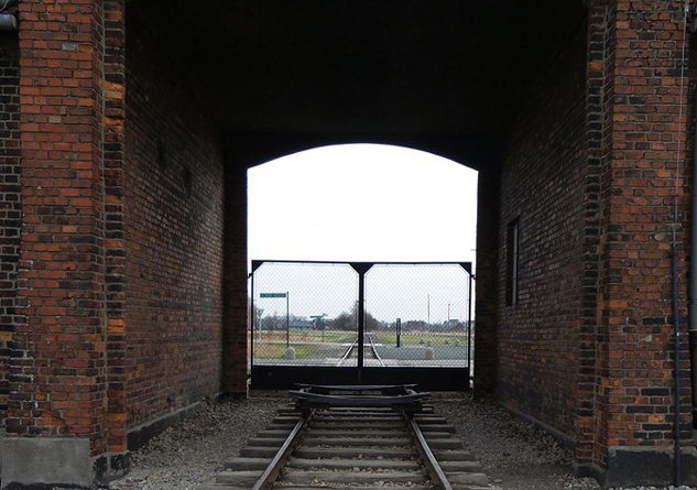Photo Caption: Birkenau Main Gate. Photo Credit: Shelly Palmer