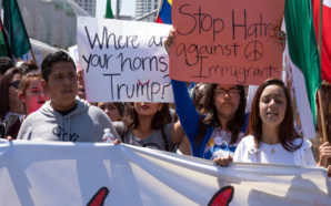 Hispanics and others protest President Trump's immigration policies while waiting for his decision on the DACA program. Photo Credit: shakzu/iStockphoto