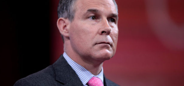 Scott Pruitt, Donald Trump's pick to run the EPA, says he isn't convinced that carbon dioxide emissions from human industrial activity is to blame for global warming, and would like to see significant cuts to EPA funding if not the dismantling of the agency altogether. Photo Credit: Gage Skidmore, FlickrCC.