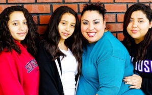 College Student Alma Perez and her daughters at Sunday Friends: (l-r) Emely, Naomi, Alma and Stephanie. Photo Credit: Sunday Friends
