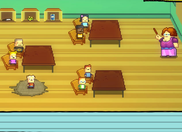 """An example of the type of gameplay you'll run into in """"Kindergarten"""". Photo Credit: SmashGames"""