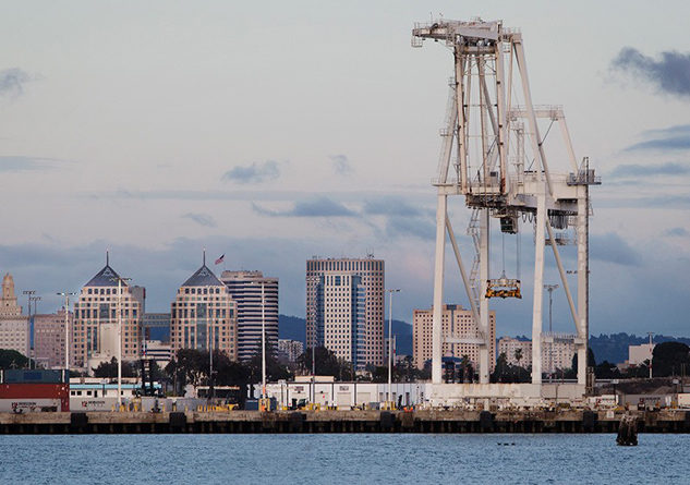 Studies show diesel emissions are 90 times higher near the Port of Oakland in West Oakland than the state average. Photo Credit:  Chris Jordan-Block/Earthjustice