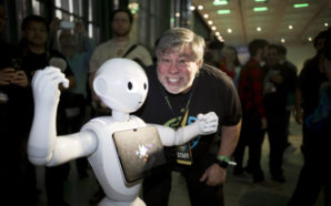 Steve Wozniak at Silicon Valley Comic Con 2017 with SoftBank's Pepper the Robot. Photo Credit: Silicon Valley Comic Con. Photo Credit: Silicon Valley Comic Con