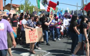 May Day 2017 in San José, CA began at the Mexican Heritage Plaza on Monday May 1st, 2017. Photo Credit: Arturo Hilario