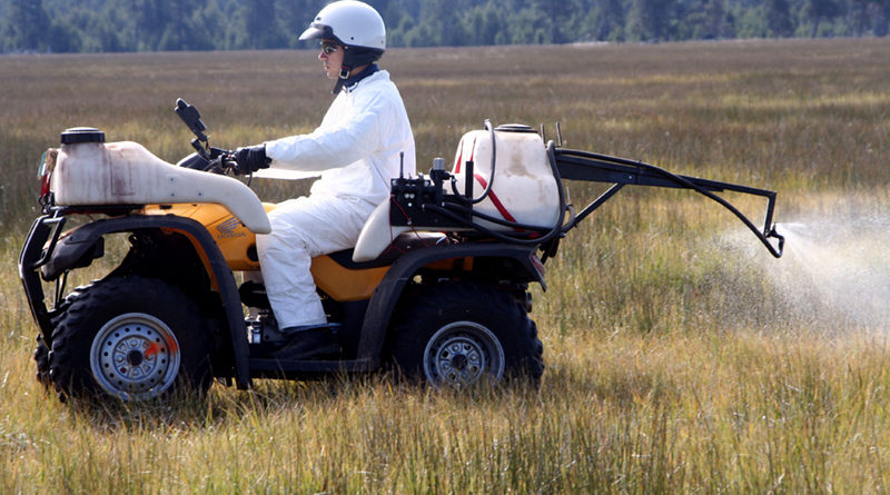 You call this a revolution? Spraying fields with synthetic chemicals to keep pests down is no way to take care of the planet and its inhabitants' health. Photo Credit: Oregon Dep't of Agriculture, FlickrCC.