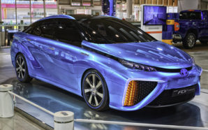 Toyota's Mirai fuel cell vehicle is already available in California, the only U.S. state with any kind of hydrogen refueling infrastructure in place. Photo Credit: RynseOut, FlickrCC