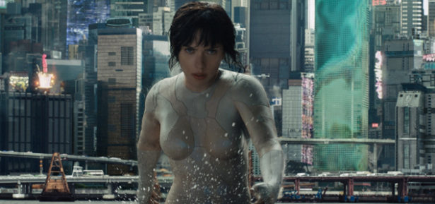 """Scarlett Johansson is the main protagonist, Major, in the visually stunning """"Ghost in the Shell"""". Photo Credit: Paramount Pictures"""