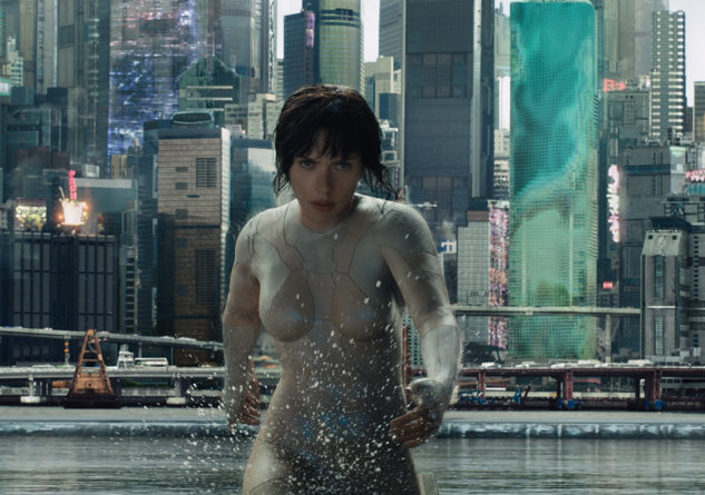"Scarlett Johansson is the main protagonist, Major, in the visually stunning ""Ghost in the Shell"". Photo Credit: Paramount Pictures"