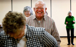 Author Doug Griffiths says offering social activities like line dancing for older residents can help revitalize small towns. Photo Credit: Jeffrey Smith/Flickr