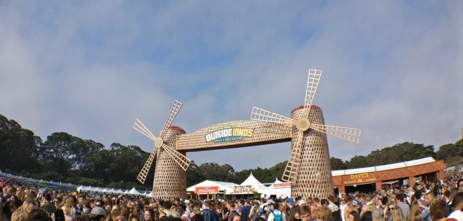 Overcast but always fun, the main Lands End stage of Outside Lands is pictured before the music lovers arrive. Photo Credit: Arturo Hilario