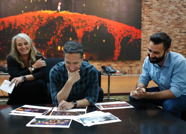 'Coco' creators Darla K. Anderson (Producer), Lee Unkrich (Director), Adrian Molina (Writer and Co-Director) at Pixar Studios in Emeryville, CA.