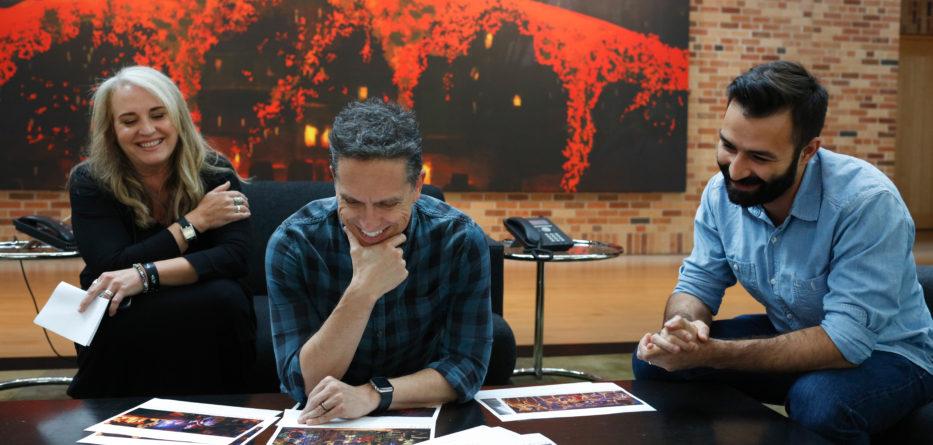'Coco' creators Darla K. Anderson (Producer), Lee Unkrich (Director), Adrian Molina (Writer and Co-Director) at Pixar Studios in Emeryville, CA.