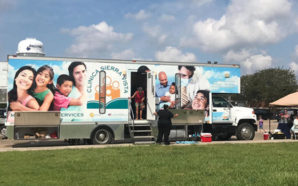 Mobile health units from California are serving 50 to 80 hurricane survivors per day in Texas this week. Photo Credit: Clinica Sierra Vista