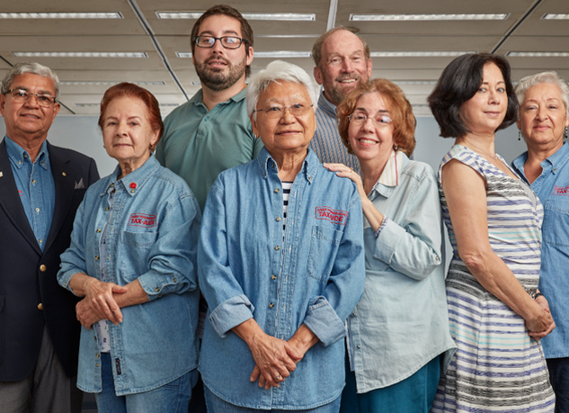The AARP Foundation's Tax-Aide program represents the nation's largest volunteer tax-preparation group. Photo Credit: Jeffery Salter/AARP Foundation Tax Aide