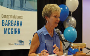 Sixty-six-year-old distance runner Barbara McGirr was the national winner of award honoring older adults who improve their health through fitness. Photo Credit: NAPS
