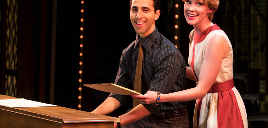 "Barry and Cynthia. Jacob Heimer (""Barry Mann"") and Sarah Goeke (""Cynthia Weil"")"