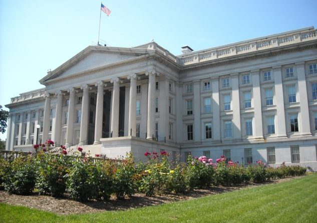 Rear view of the Treasury Department building in Washington, D.C. The building is a National Historic Landmark. | Photo Credit: AgnosticPreachersKid (Own work) [CC BY-SA 3.0]. Wikipedia.org