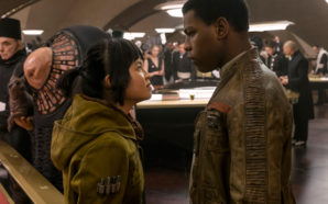 "Rose Tico (Kelly Marie Tran) and Finn (John Boyega) must help the Resistance prevail against the villainous First Order in ""Star Wars: The Last Jedi"". Photo Credit: Disney/Lucasfilm"