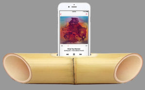 he portable iBamboo speaker makes a great gift for green-leaning loved ones as it's made out of sustainably harvested bamboo and uses natural acoustics to amplify the sound of your iPhone without any wires, batteries or electricity whatsoever. Photo Credit: iBamboo
